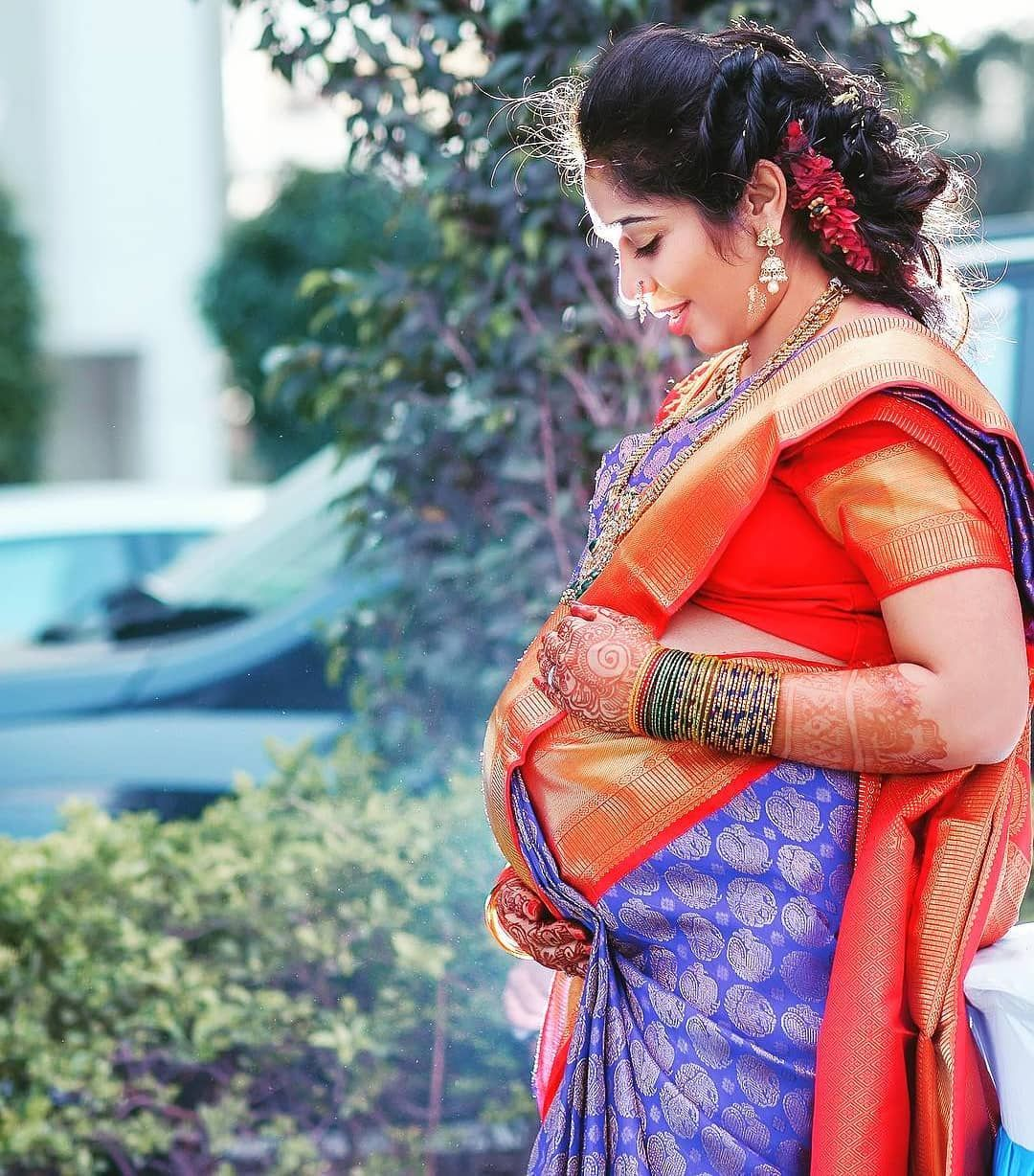 Image May Contain 1 Person Indian Maternity Photos Indian Maternity Maternity Photoshoot Poses
