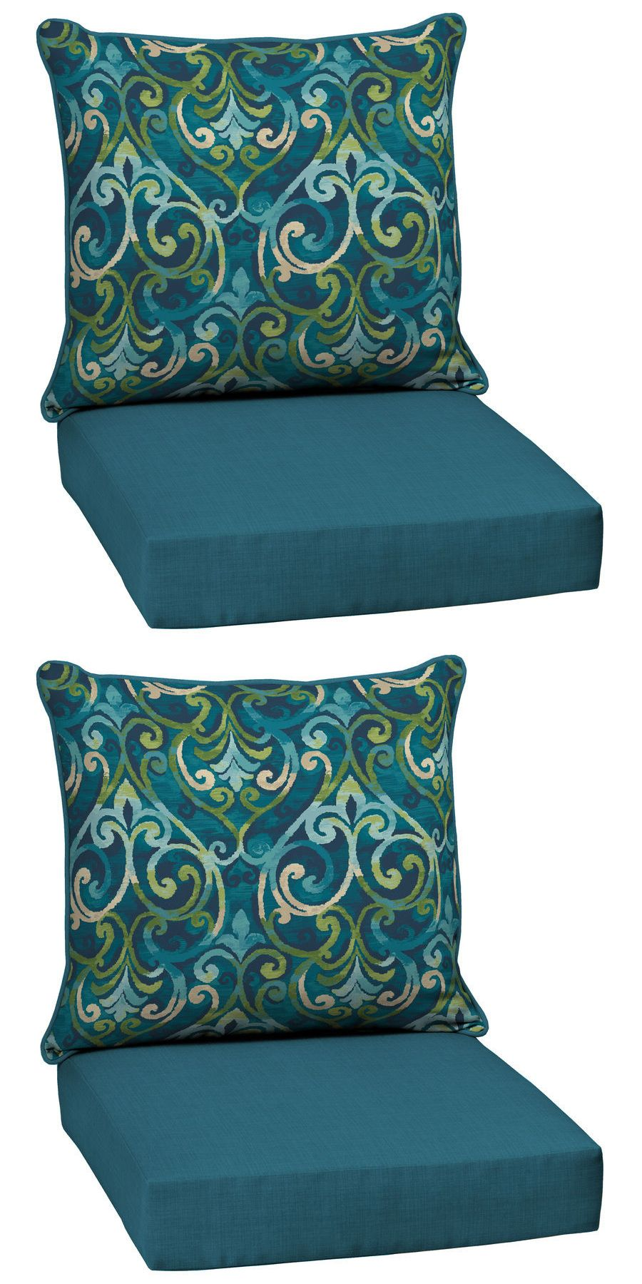 Cushions And Pads 79683: Garden Treasures Damask Blue Replacement Cushion  Outdoor Patio Deep Seat Chair