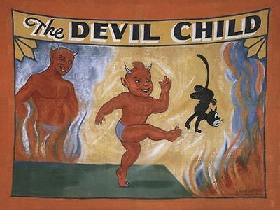 Vintage Freak Show Devil Child Poster A3 A2 Print