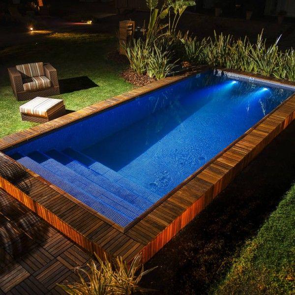 piscinas em deck de madeira - Pesquisa Google