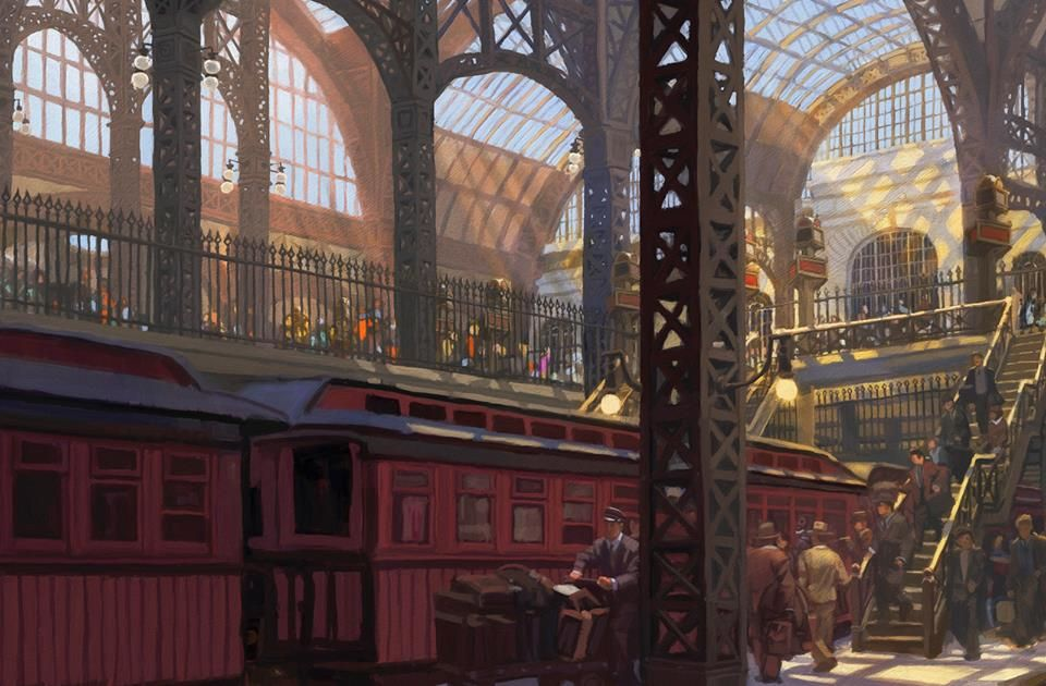 Old Penn Station William Low Cityscape New Artists Fine Art