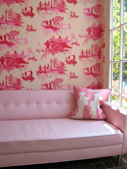 Weekly Faves: 5 Inspiring Spaces! | Toile wallpaper, Toile and Wallpaper