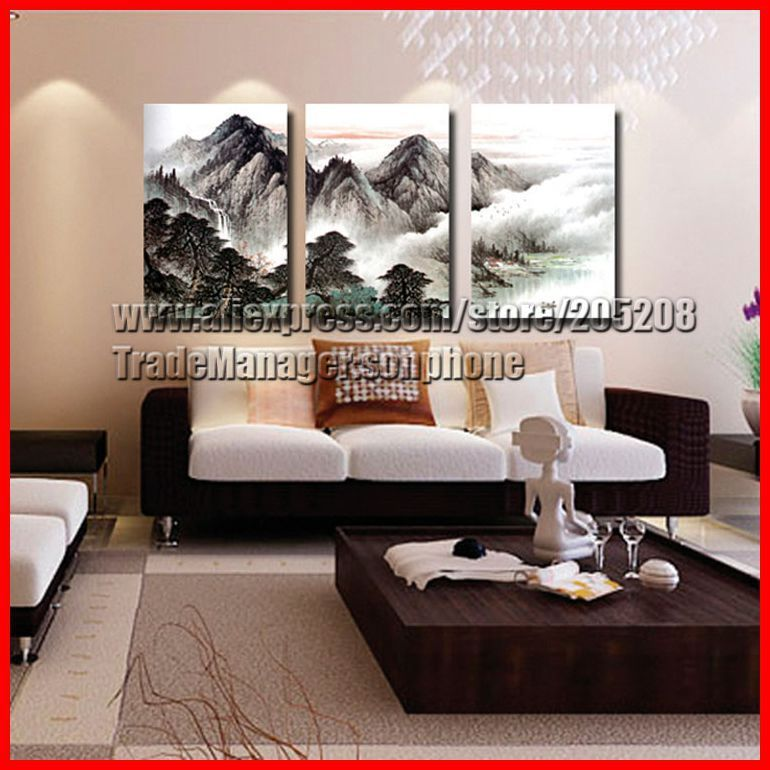 Panel 100 Handpainted High End Large 3 Panel Wall Decor Chinese ...