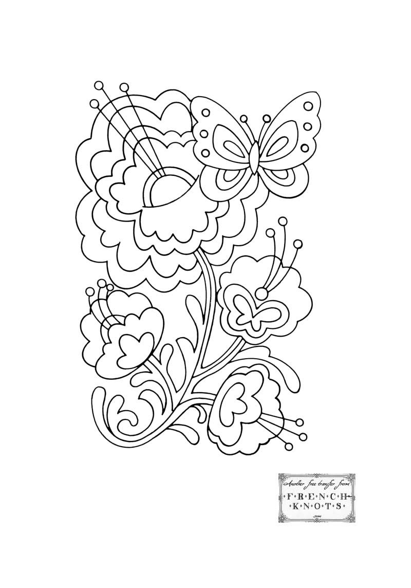 Butterfly Embroidery Patterns | embroidery | Pinterest | Embroidery ...