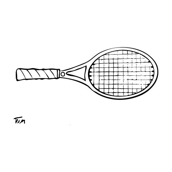 Free Drawing Of Tennis Racket From The Category Sports Timtim Com Liked On Polyvore Featuring Fillers D Sports Drawings Tennis Racket Art Tennis Drawing