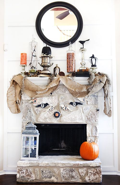 10 Halloween Mantels {do it yourself decorating Mantels, Holidays - halloween do it yourself decorations