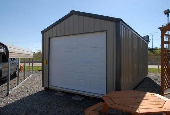 One Car Portable Metal Garage Home Interiors Portable Garage Metal Garages Garage Design