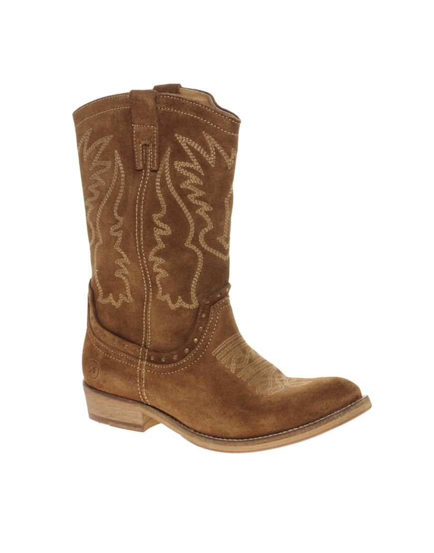 Bronx | Bronx Long Suede Western Boots