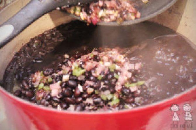 Cuban Black Beans #cubanrice