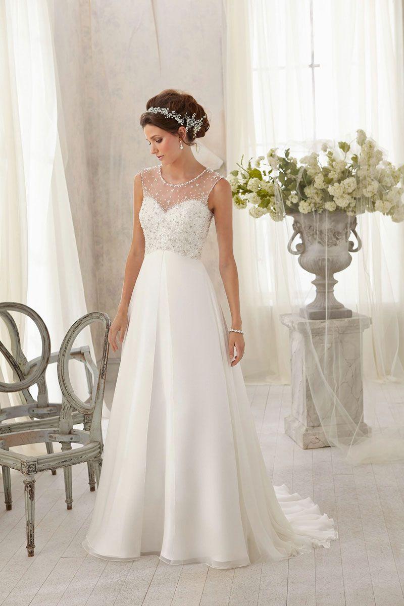 Untraditional wedding dresses  aline chiffonlace scoop natural waist brush train wedding dress