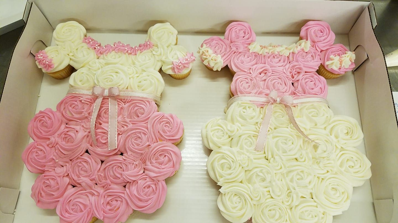 Twin Girl Baby Shower Cupcake Cake Buttercream Twin Girls Baby