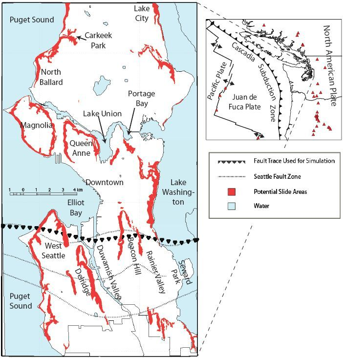 Seattle S Hilly Neighborhoods Could Slide Into The Water During The