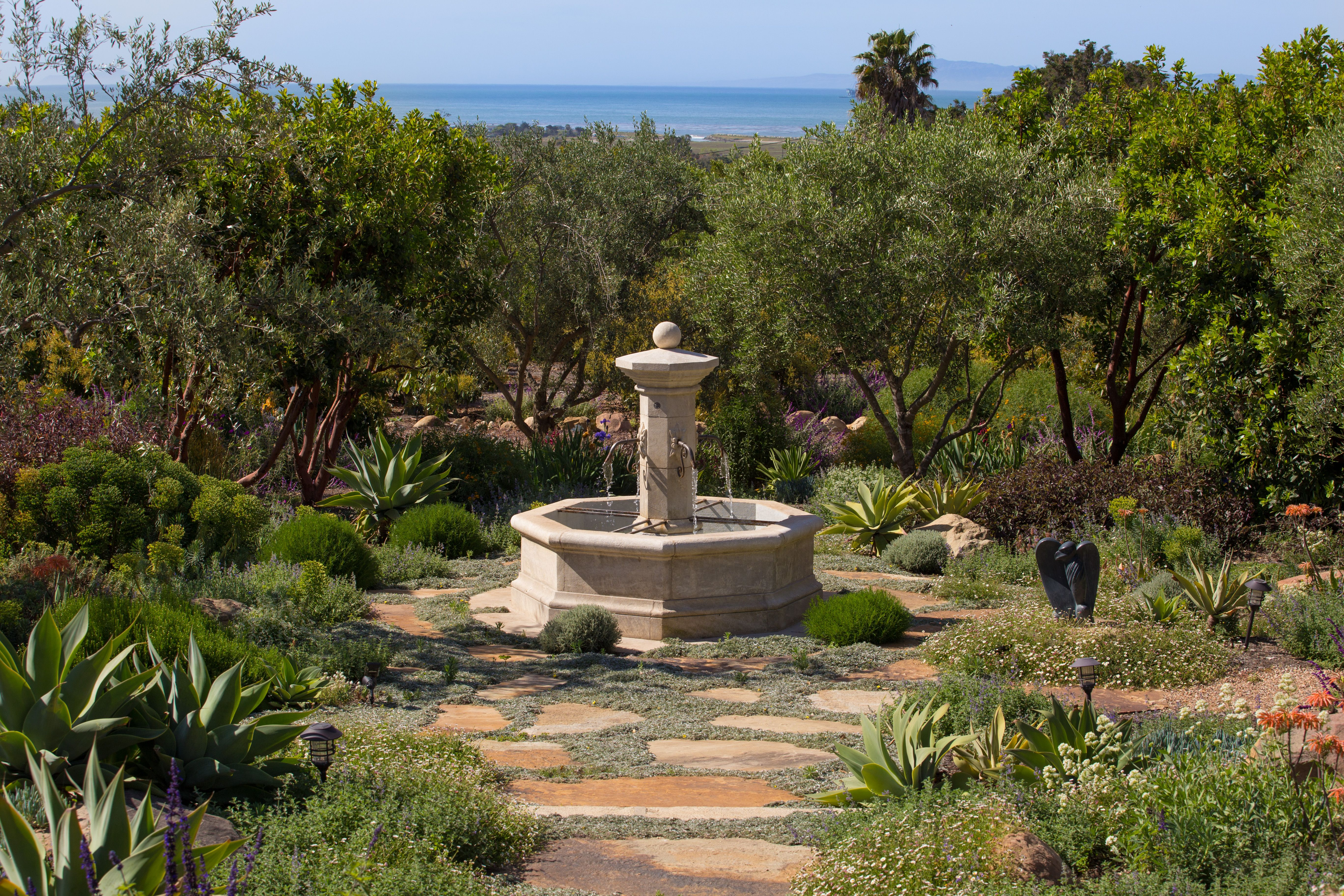 We love beautiful gardens centered around our French limestone ...