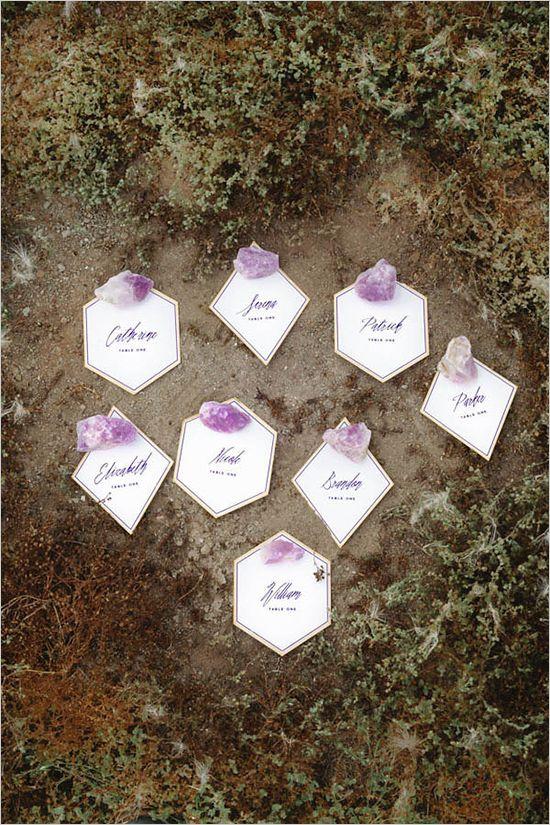 Natural Crystal Wedding Ideas