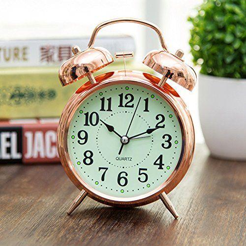 Rose Gold Alarm Clock For A Feminine Bedroom Gorgeous Copper