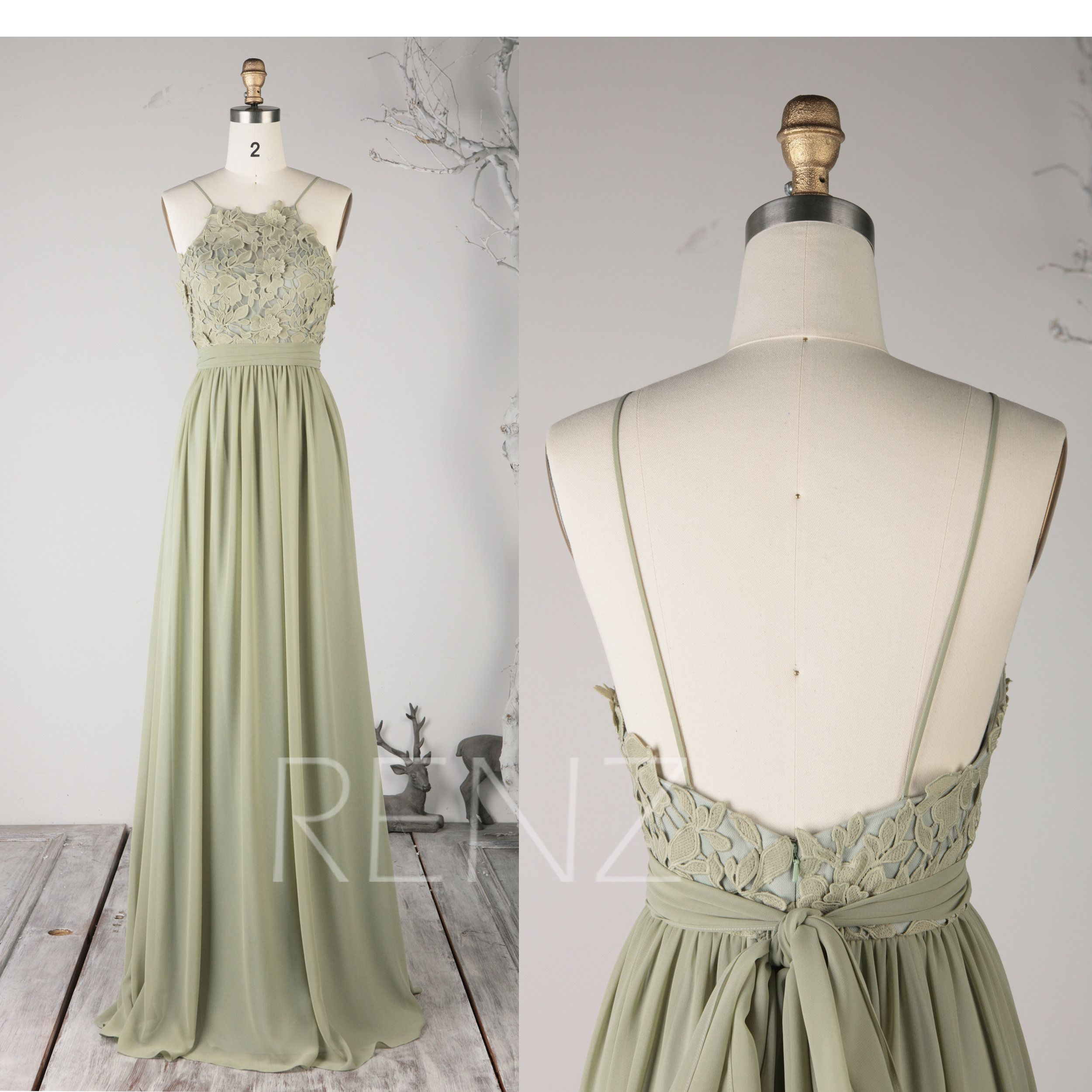 Party Dress Olive Green Bridesmaid Dress Lace Wedding Dress Spaghetti Str Olive Green Bridesmaid Dresses Green Bridesmaid Dresses Lace Green Bridesmaid Dresses