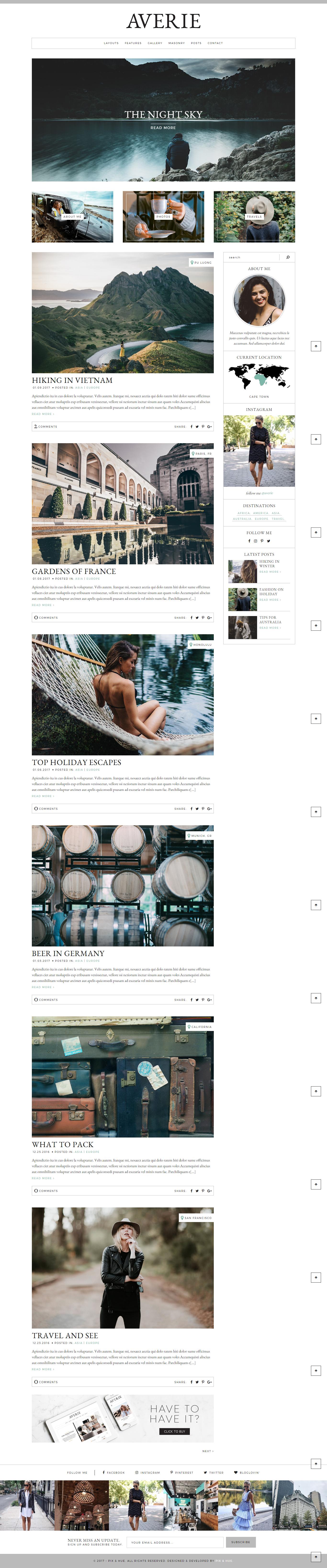 Averie - A Blog & Shop Theme