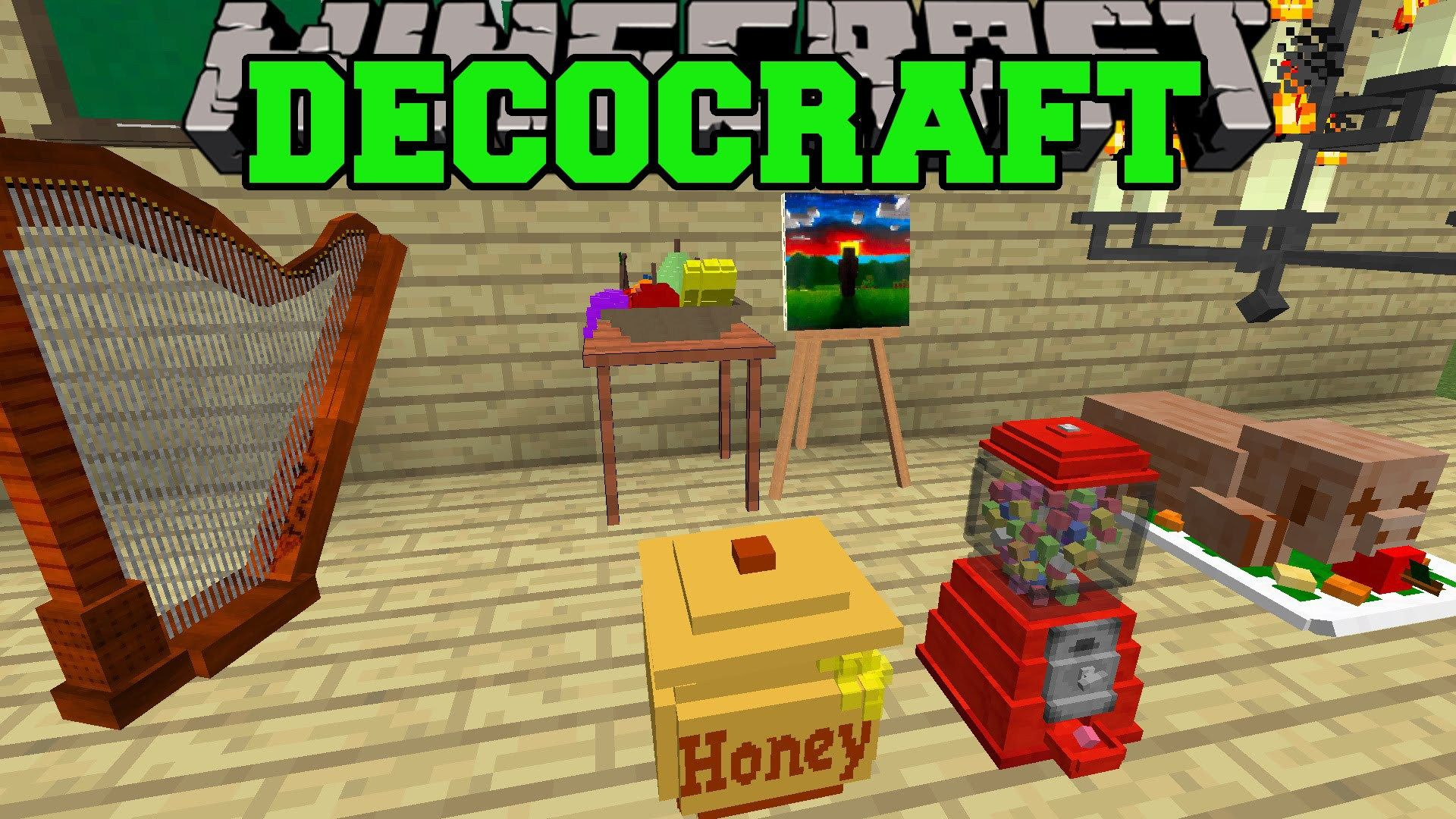 The Decocraft Mod 1.11 Provides A Bunch Of Original Props In Minecraft Tou2026