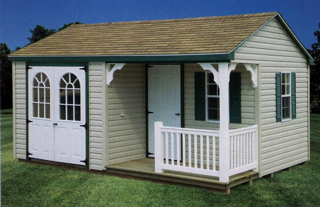 29 Beautiful Storage Sheds With Porch