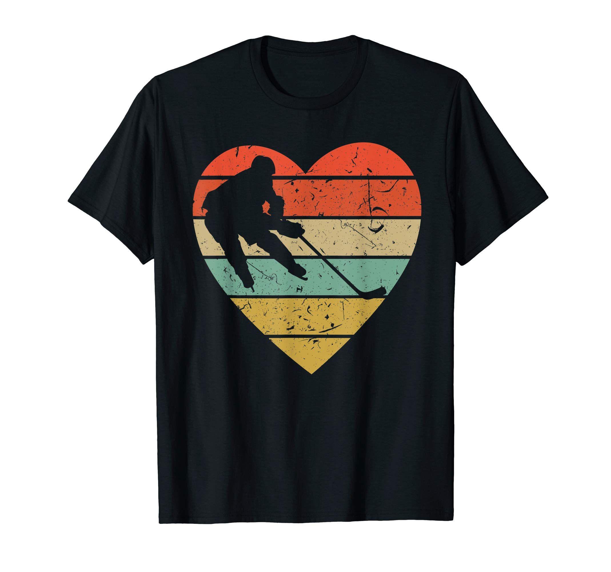 I Love Heart Ice Hockey Ladies T-Shirt