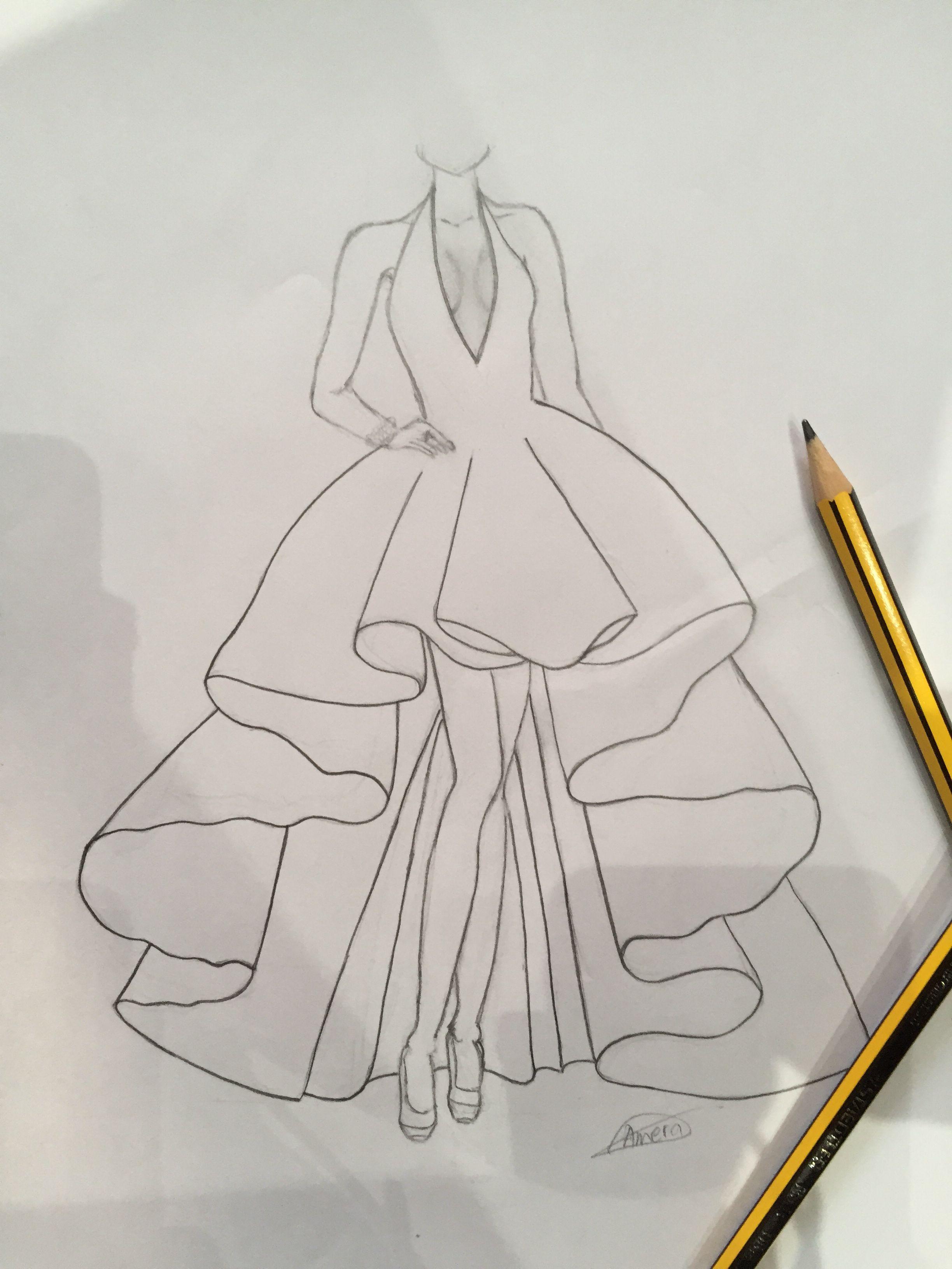 Fashion Sketches Dress Drawings Fashion Drawing Sketches Dress Design Drawing Fashion Illustration Sketches Dresses