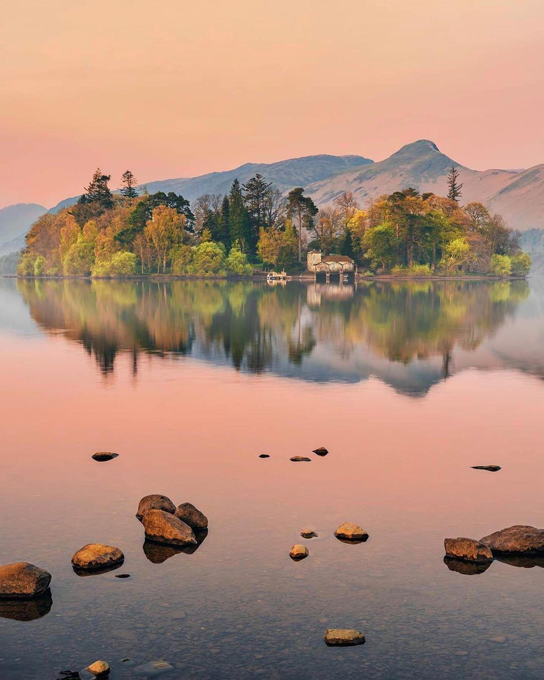 Lake District On Instagram Which Shot Of Derwent Isle On Derwentwater Do You Like The Best 1 Lake District England Lake District Lake District National Park