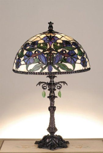 Victorian Nouveau Lily Accent Lamp By Meyda Tiffany 446
