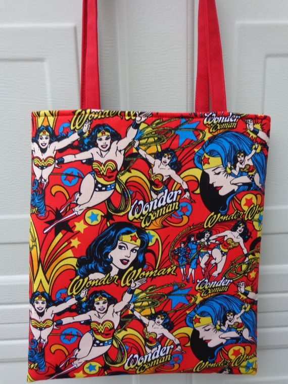 Reversible Tote Bag: DC Comics Wonder woman by HapinoyFabricFlower
