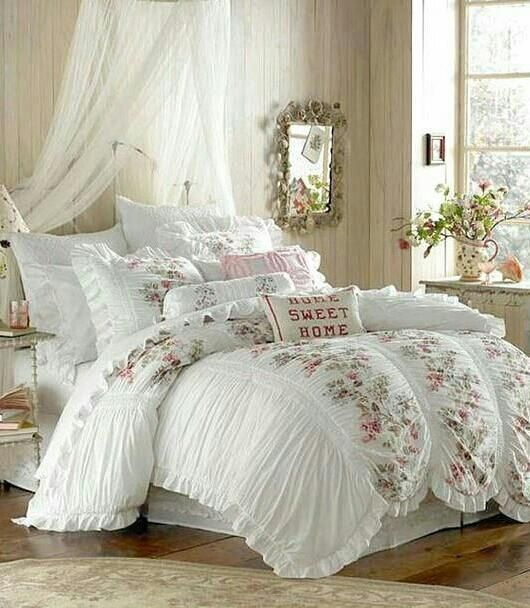 Romantic Bedroom Decorating Ideas- The Budget Decorator | Princess on small cottage bedroom decorating ideas, vintage cottage bedroom decorating ideas, shabby vintage cottage bedroom,