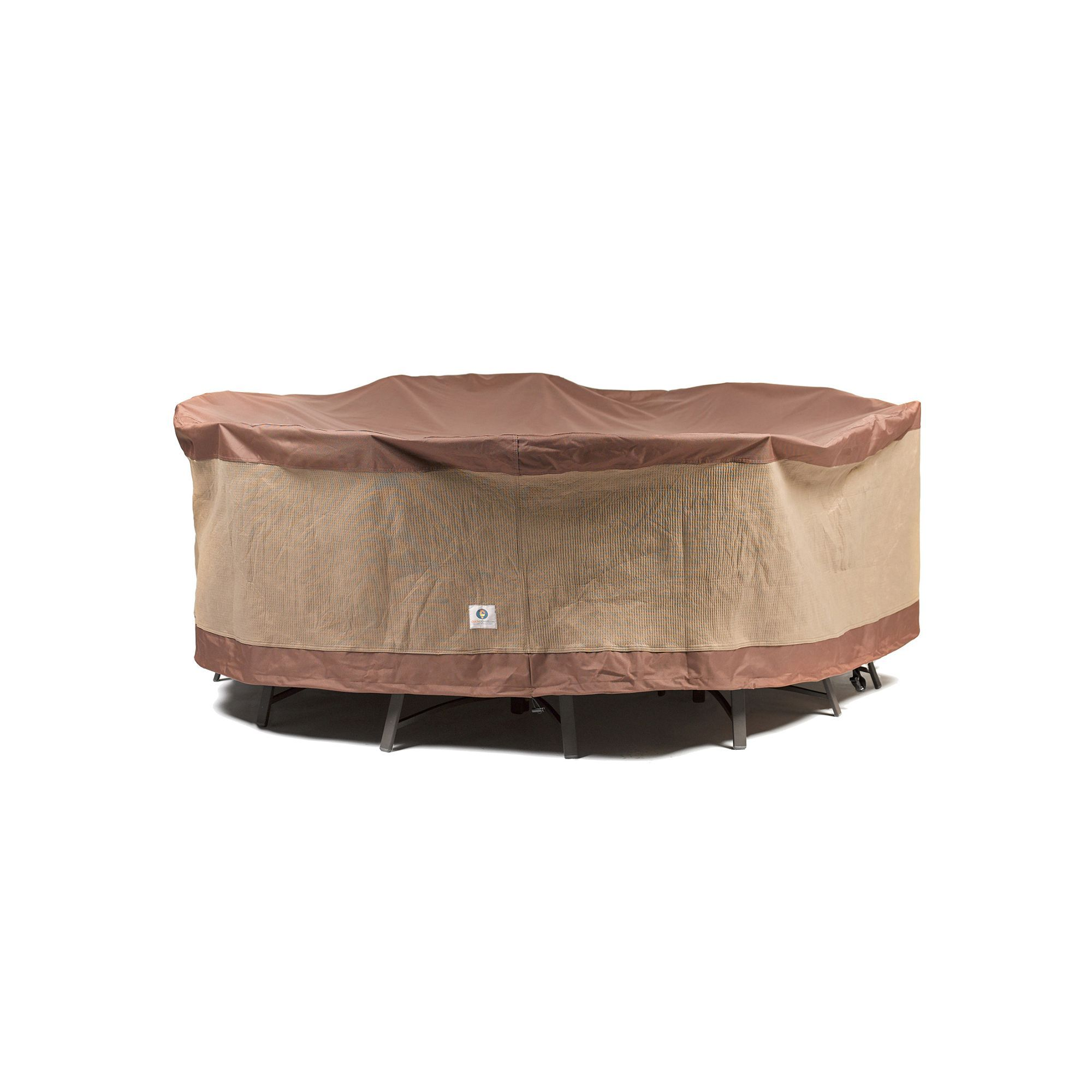 Outdoor Duck Covers 108 in Round Table and Chairs Cover Brown