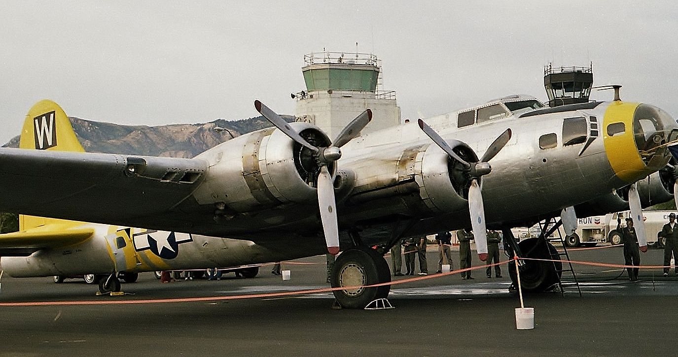 Confederate Air Force flyable B17 at Ogden, Utah in 1980