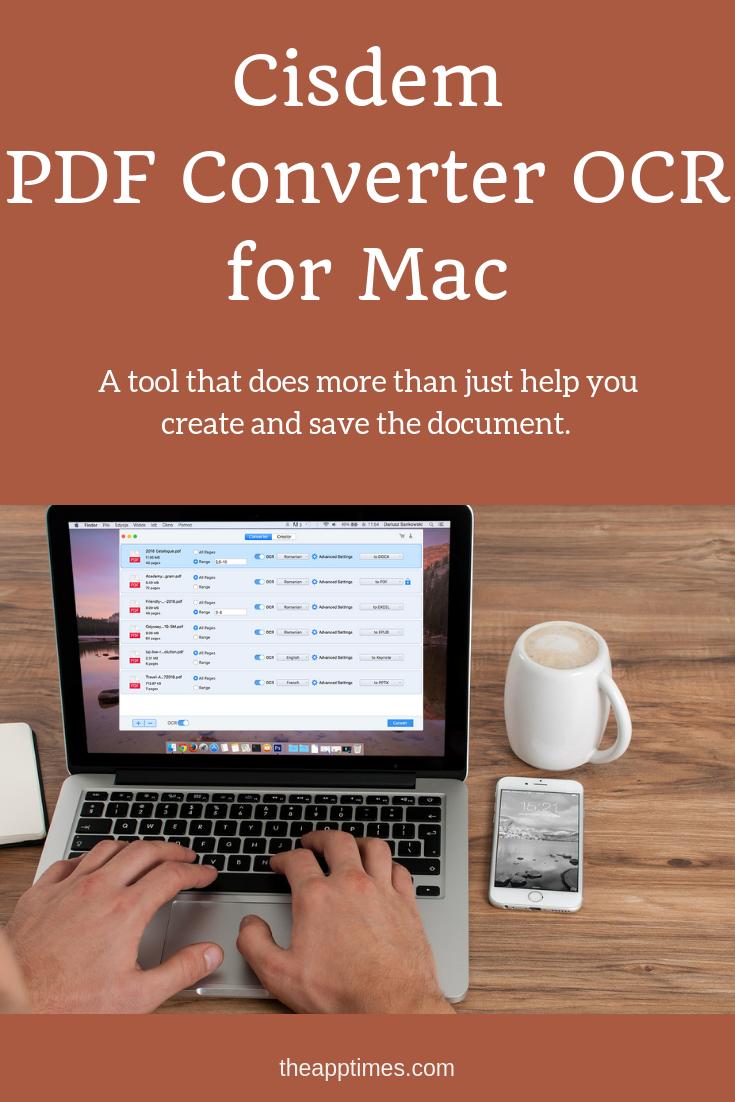 Cisdem Pdf Converter Ocr For Mac A Dependable Pdf Converter And