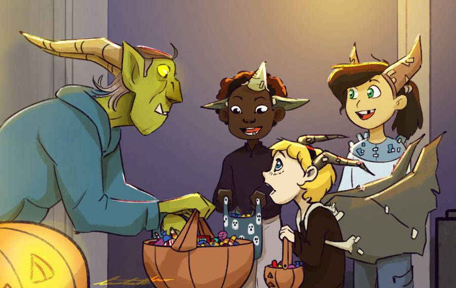 Happy halloween d by tomeart cartoon crossovers