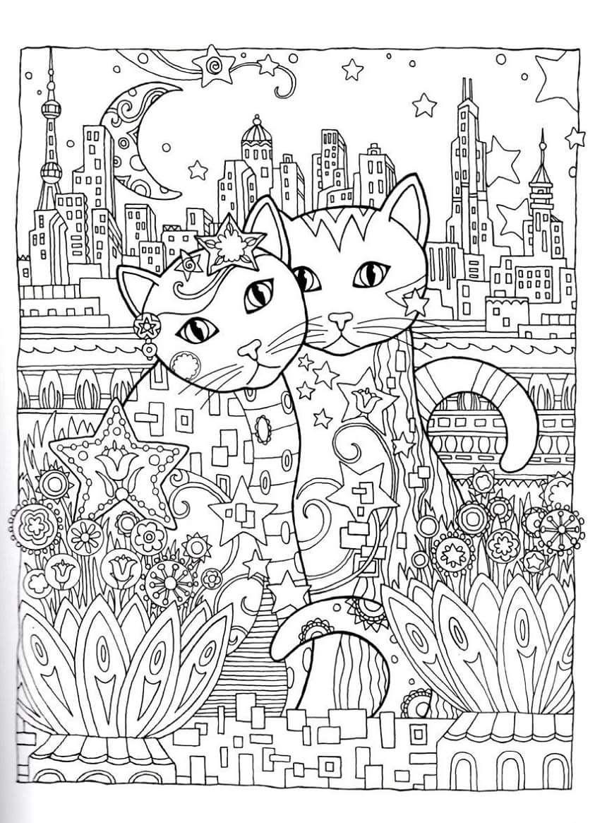 Gatos para Colorir | Desenhos para pintar | Pinterest | Colorear ...