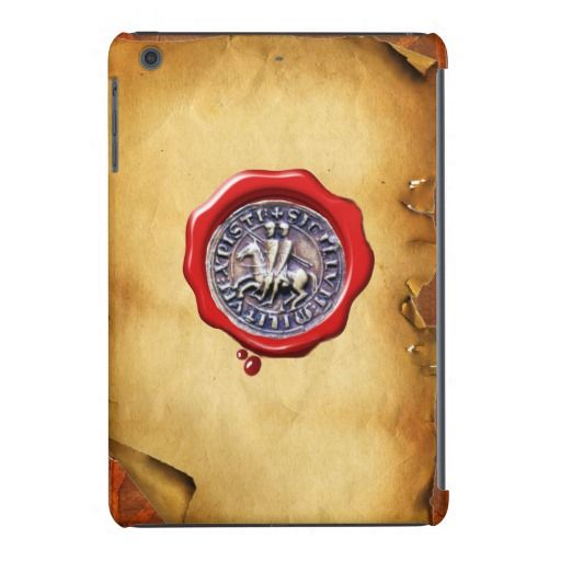 SEAL OF THE KNIGHTS TEMPLAR wax parchment iPad Mini Retina Case
