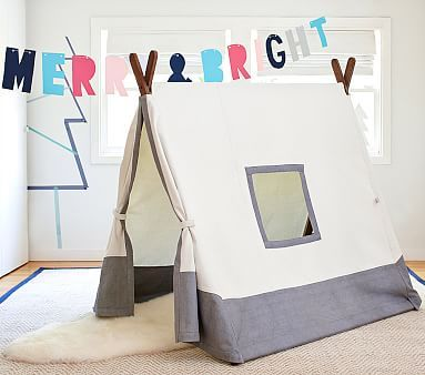Gray A-frame Tent #pbkids | Kids - Play Spaces (Indoors) | Pinterest ...