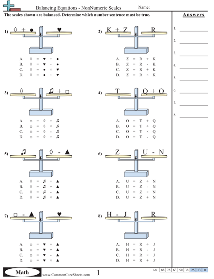Algebra balance image for balancing equations | Education ...
