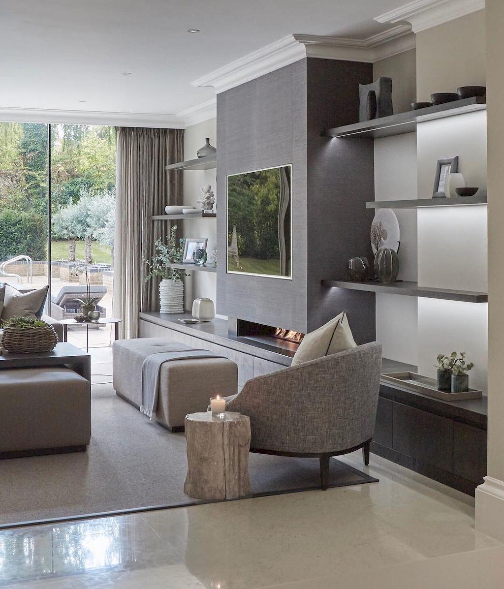 Inspired tv wall living room ideas (7   home decor   Pinterest