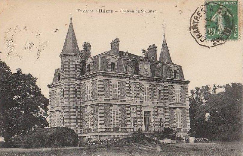 """SAINT-EMAN : CHÂTEAU DES PÂTIS: One of the  Models for the Chateau de Guermantes;   1875. (LE CHÂTEAU DES GOUSSENVILLE AUX PATIS)           Le château des Patis     En 1875, le Château est dit """"Château neuf des Pâtis."""" More here: http://www.bude-orleans.org/lespages/43auteurs/proust.html#patis"""