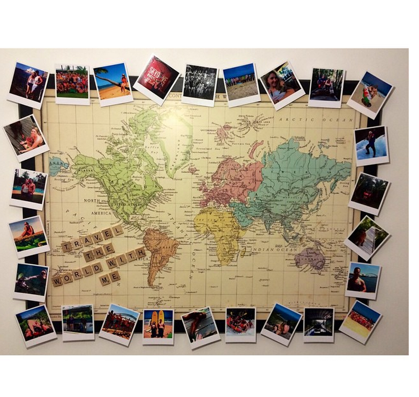 Image result for polaroids over map | For the Home | Pinterest ...