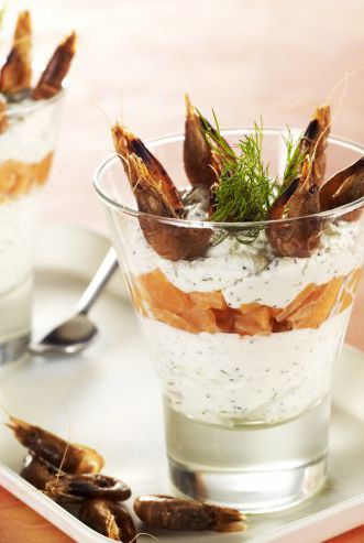 Verrine de saumon par les chefs de l'Institut Paul Bocuse www.likeachef.fr #recette #verrines #chef #saumon