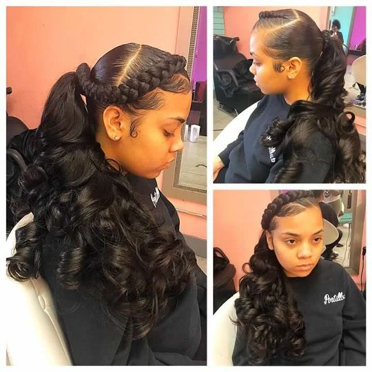 2018 Sweet Ponytail Cute Weave Hairstyles Cute Weave Hairstyles