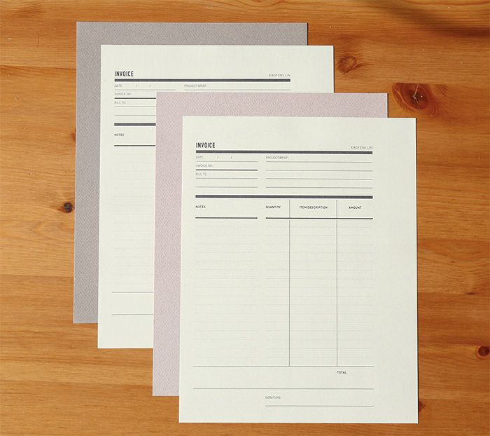 self-promo-print Invoice \/ receipt Pinterest - print invoice