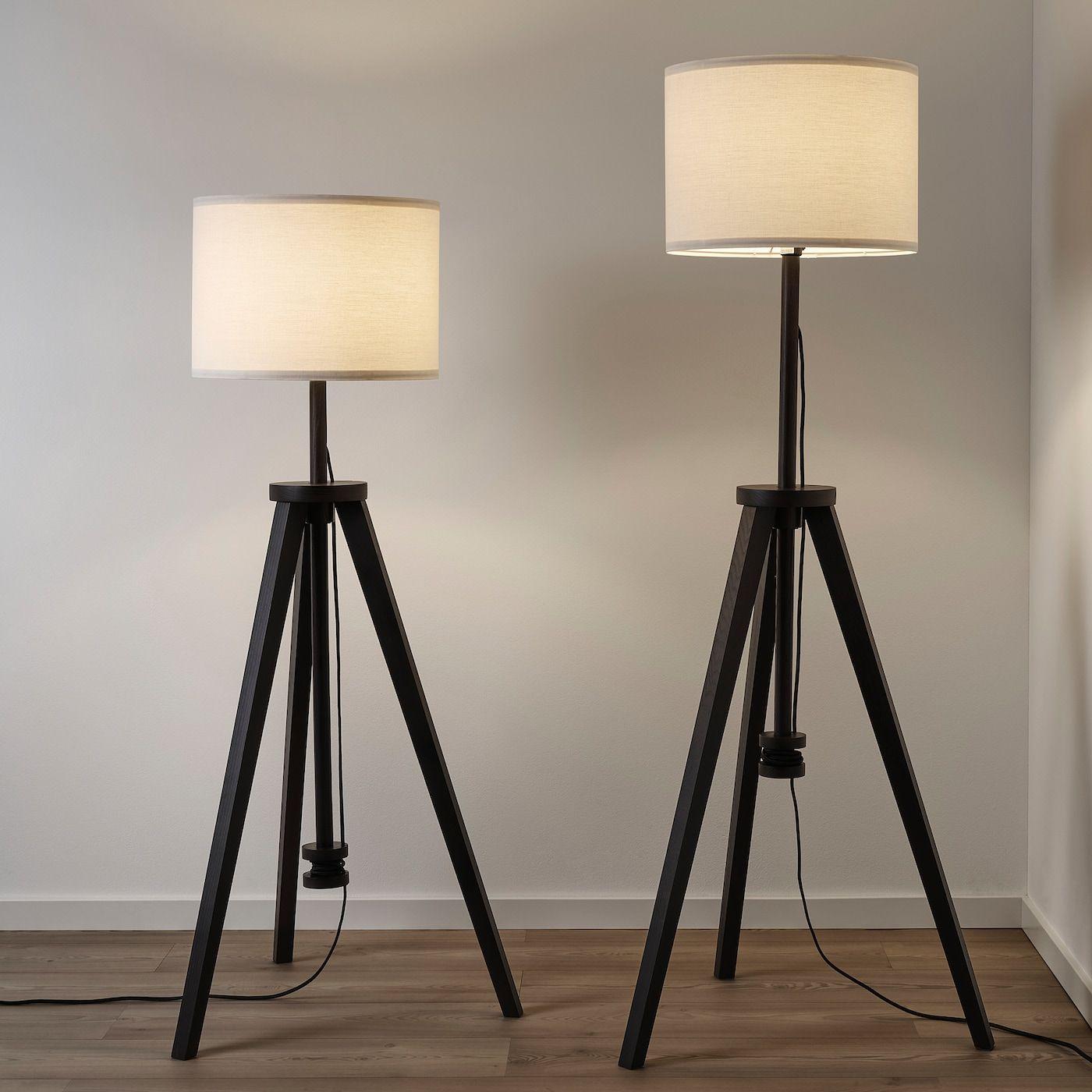 Lauters Floor Lamp Brown Ash White Ikea In 2020 Floor Lamp White Floor Lamp Lamp