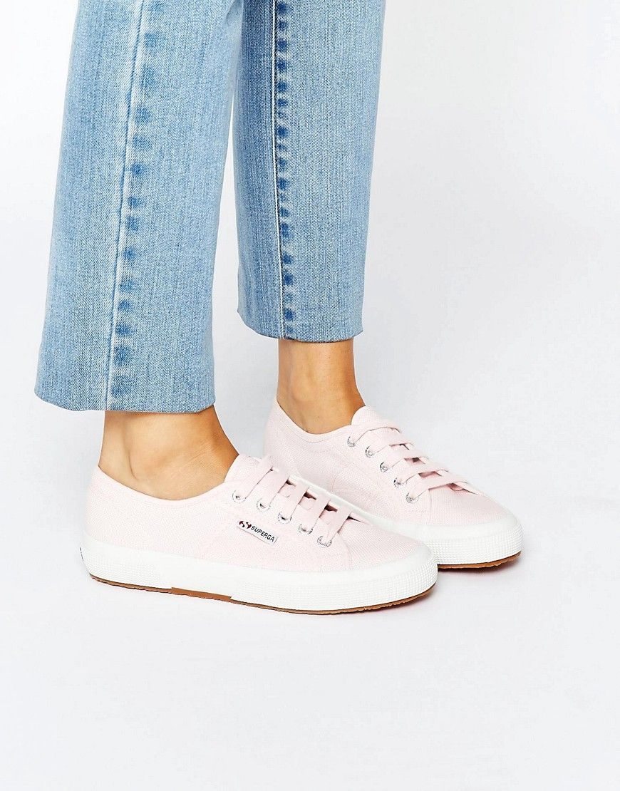Women Superga 2750 Classic Plimsole In Pale Pink Shoes Pink Cheap Sale