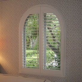 Amazing Arched Plantation Shutter Window   This Is The Look We Are Going For In Our  Bedroom