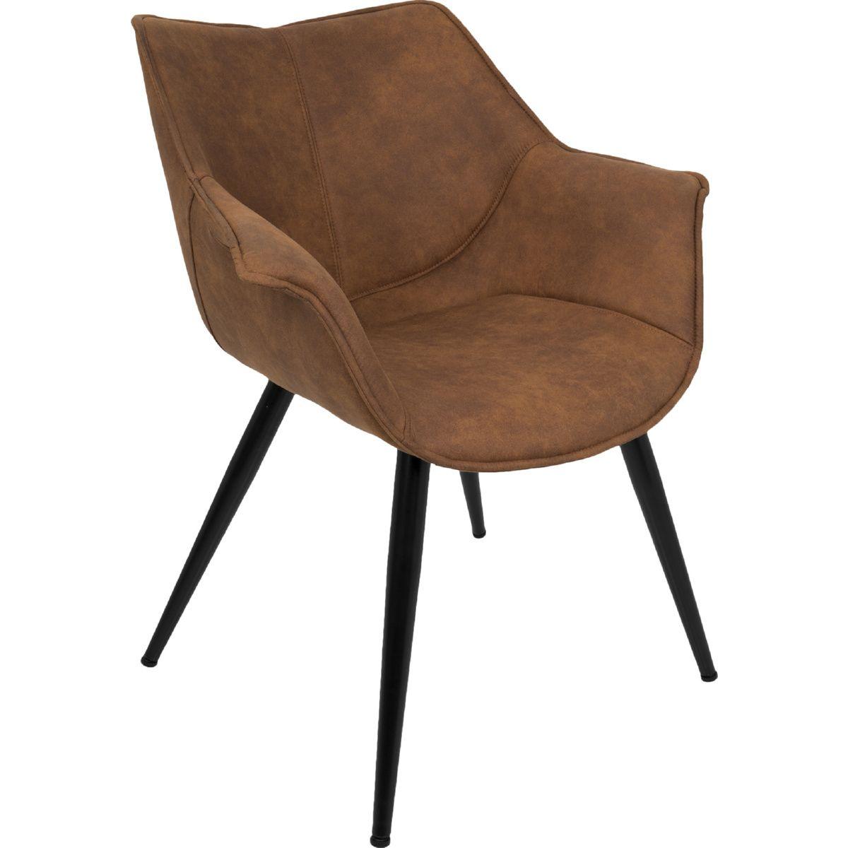 Best Lumisource Wrangler Accent Chair Rust Fabric Metal Legs 640 x 480