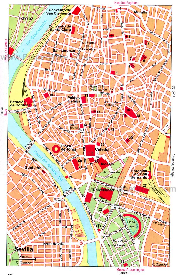 sevilla central map tourist attractions