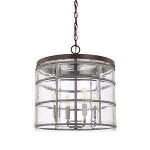 Photo of Capital Lighting Fixture Company Colby Urban Gray Four Light Pendants 329441ug | Bellacor