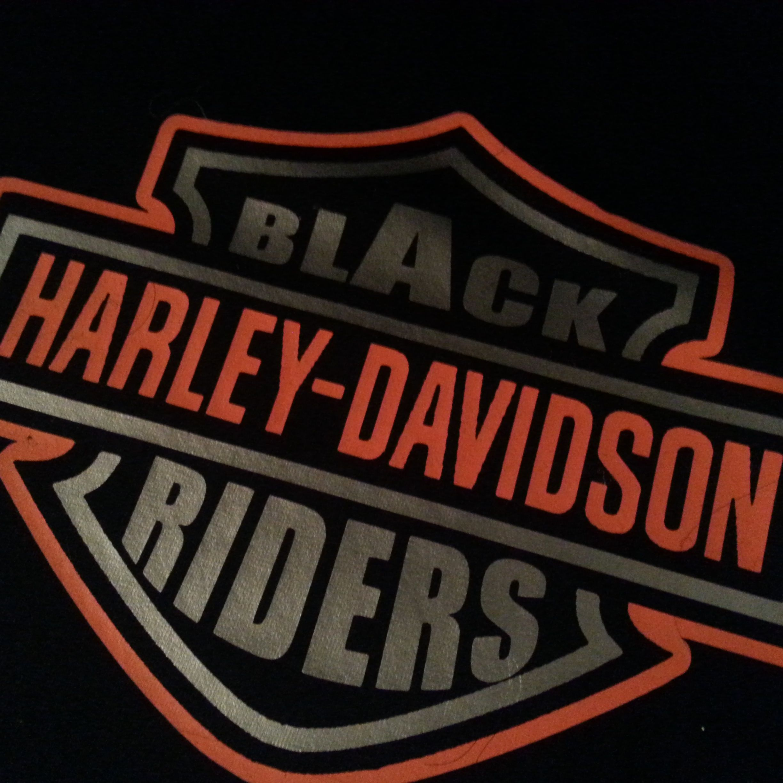 Black Harley Riders Orange And Silver Vinyl 30 Long Or Short Sleeve Www Bhrgear Com Harley Urban Hoodie Logo Harley My Ride